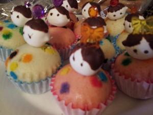 ひな祭りカップケーキ
